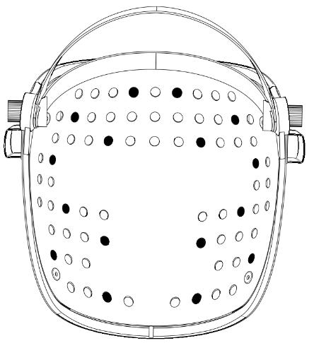 LED فروسرخ ماسک نیلای | خیز